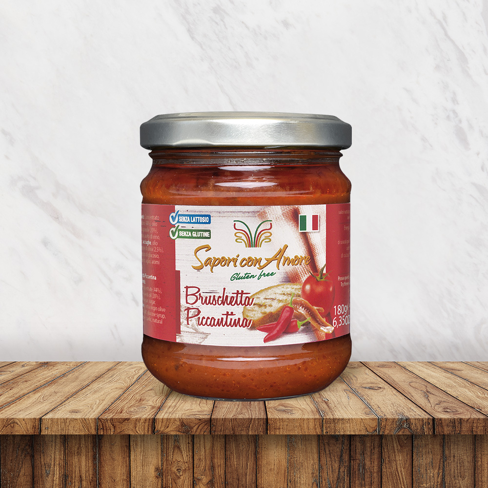 Condimento Senza Glutine Senza Lattosio Bruschetta Piccantina - Sapori con Amore
