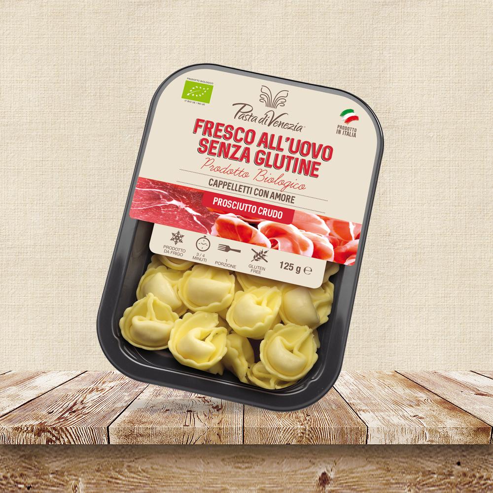 Cappelletti al crudo biologici senza glutine per celiaci - Pasta di Venezia