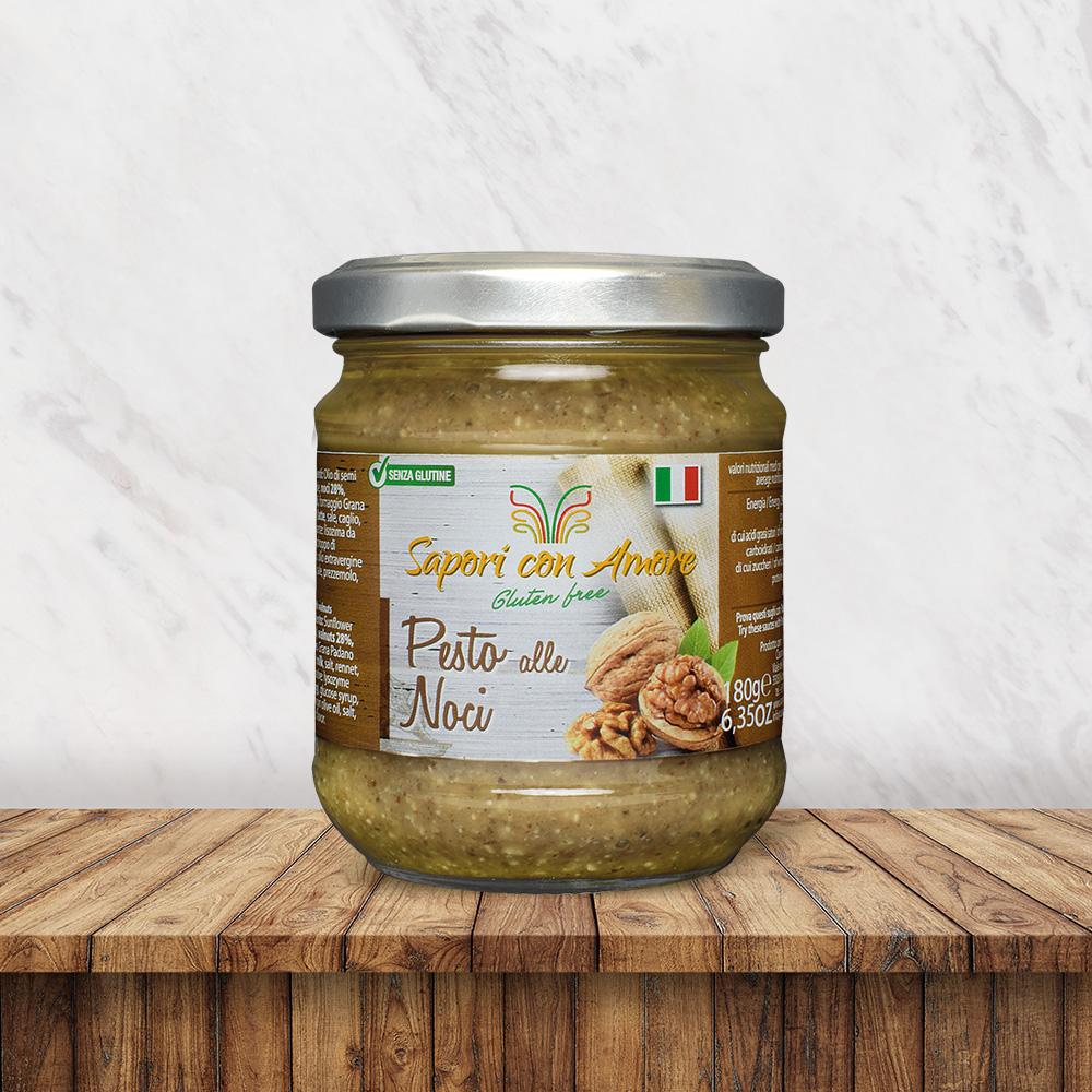 Condimento Senza Glutine Pesto Noci - Sapori con Amore