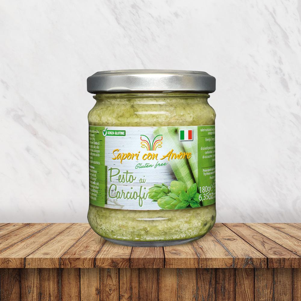 Condimento Senza Glutine Pesto carciofi - Sapori con Amore
