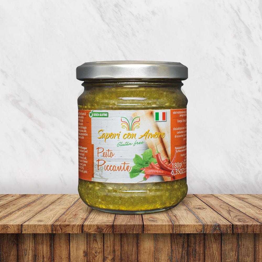 Condimento Senza Glutine Pesto Piccante - Sapori con Amore