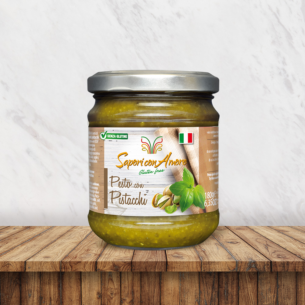 Condimento Senza Glutine Pesto Pistacchi - Sapori con Amore
