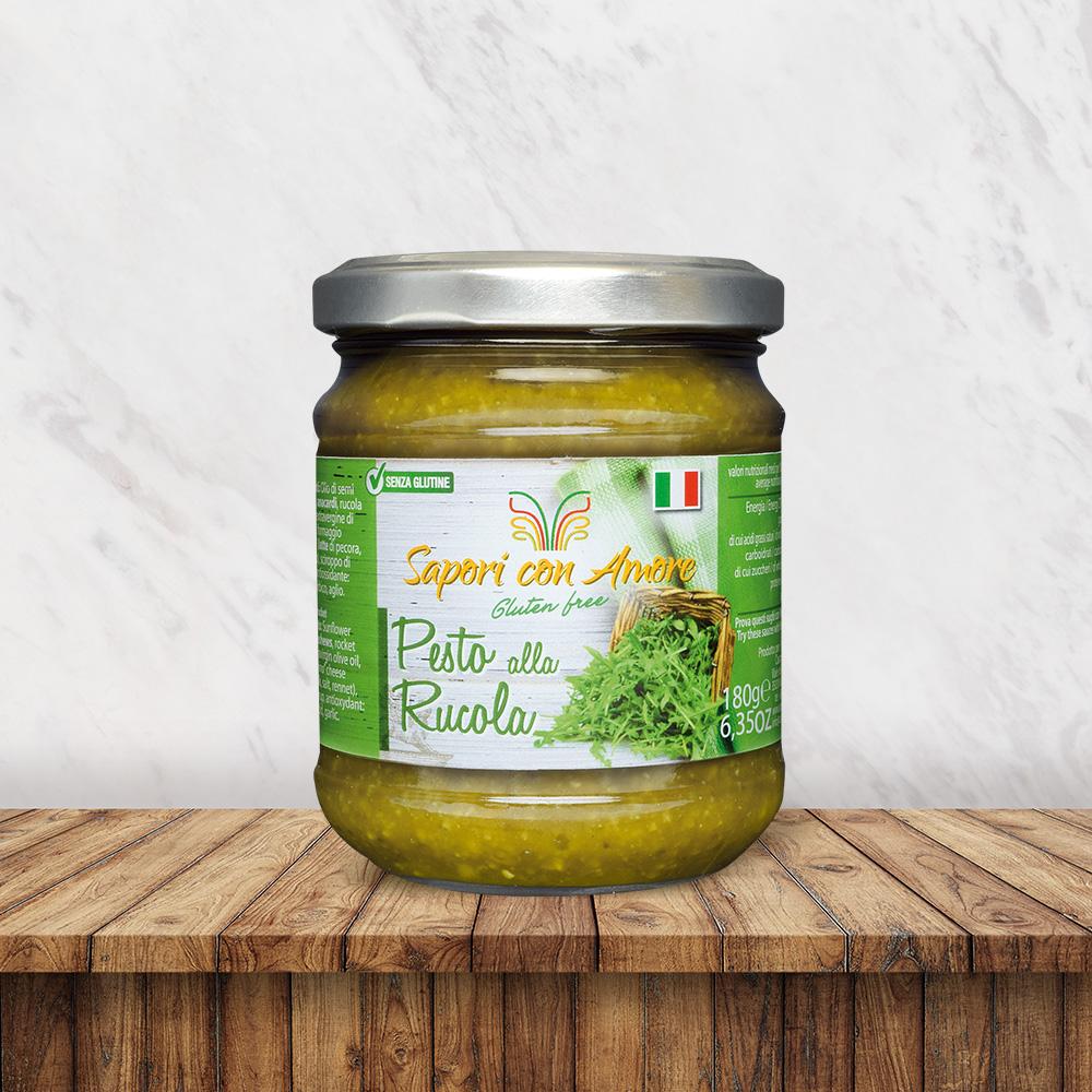 Condimento Senza Glutine Pesto Rucola - Sapori con Amore