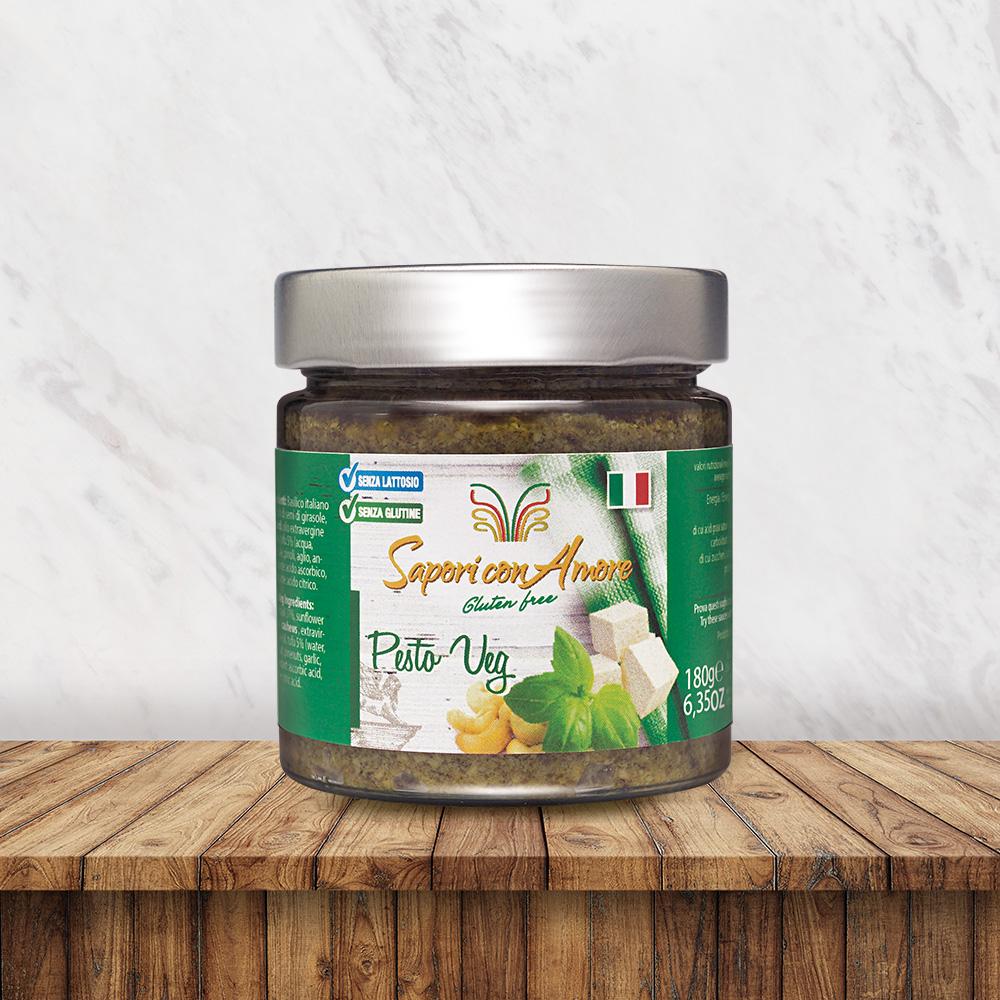 Condimento Pesto Veg Senza Glutine Senza Lattosio Vegetariano Vegano - Sapori con Amore