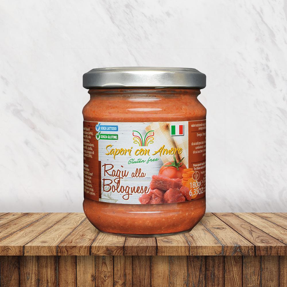 Condimento Ragù Bolognese Senza Glutine Senza Lattosio - Sapori con Amore