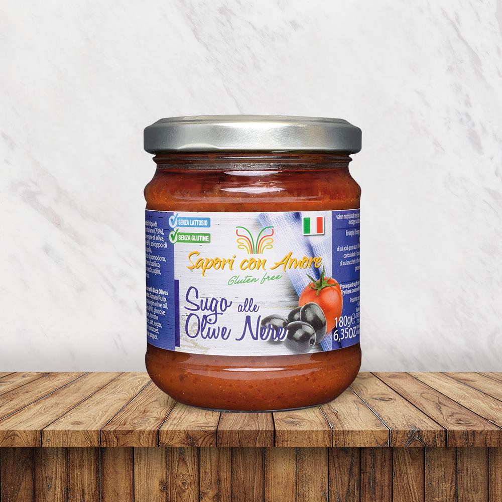 Condimento Sugo Olive Nere Senza Glutine Senza Lattosio - Sapori con Amore