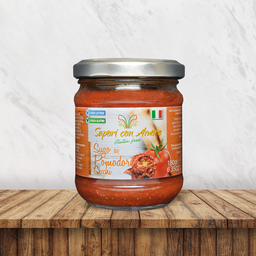 Condimento Sugo Pomodori Secchi Senza Glutine e Senza Lattosio - Sapori con Amore