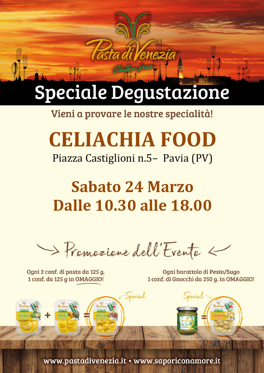 Evento di Degustazione a Pavia di Pasta di Venezia