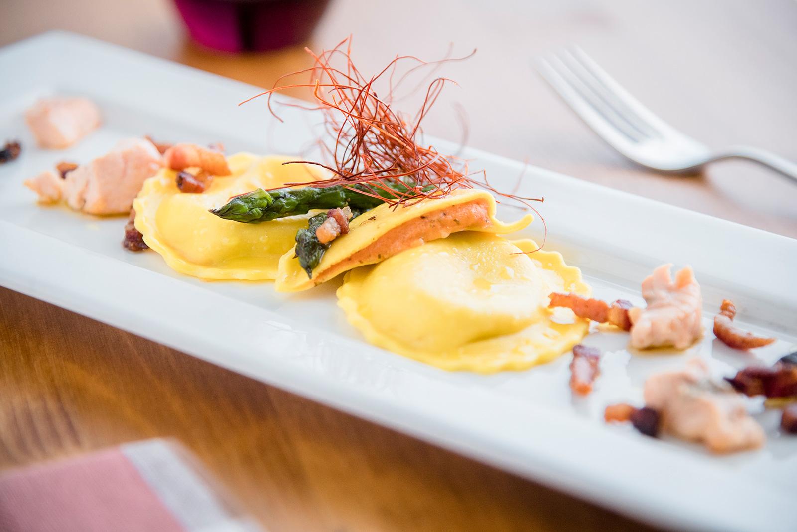 Ricetta Girasoli Senza Glutine con Guanciale e Asparagi - Pasta di Venezia