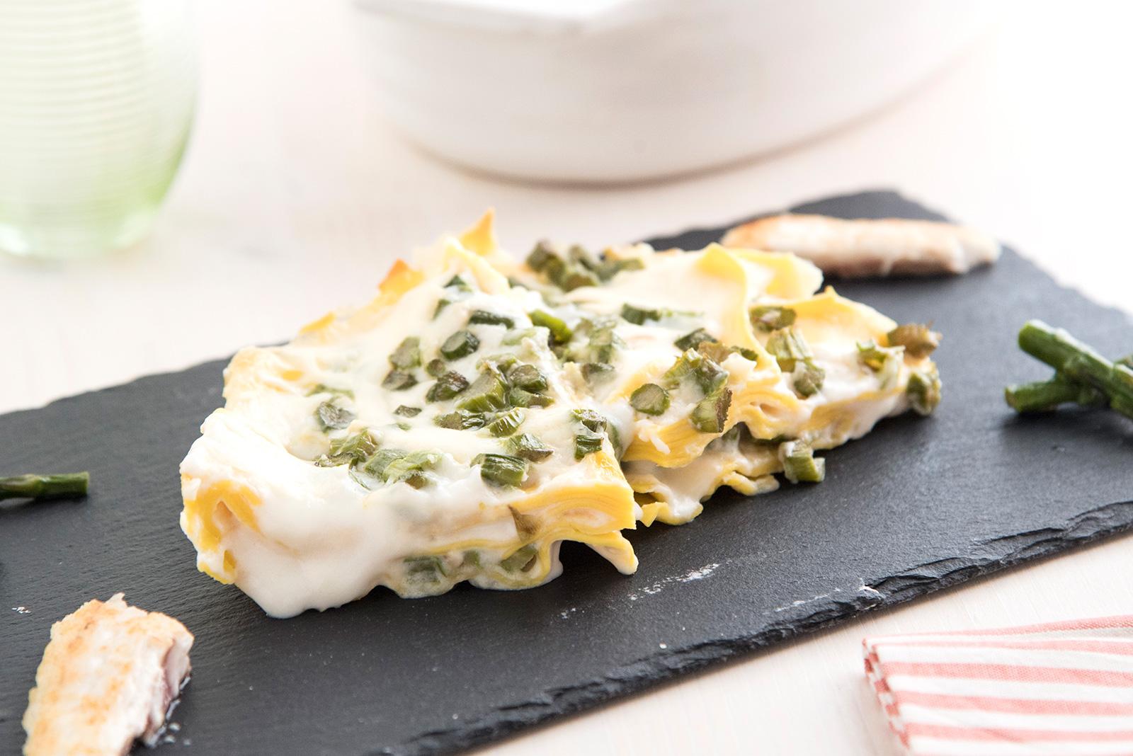 Ricetta pasta Lasagnette Branzino e Punta di Asparagi Senza Glutine - Pasta di Venezia