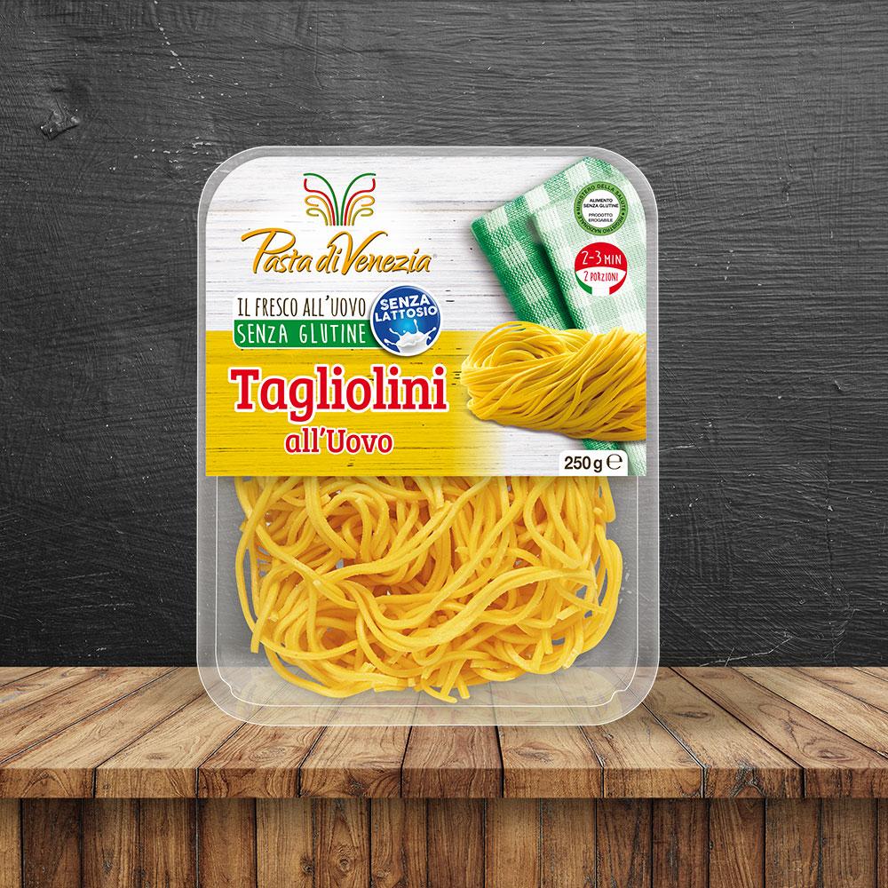 Tagliolini all'uovo biologici e Senza Glutine - Pasta di Venezia