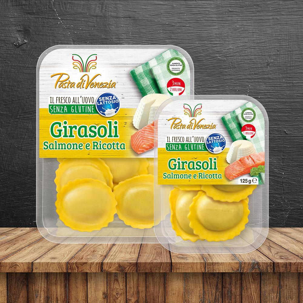Girasoli Salmone e Ricotta Senza Glutine e Senza Lattosio - Pasta di Venezia