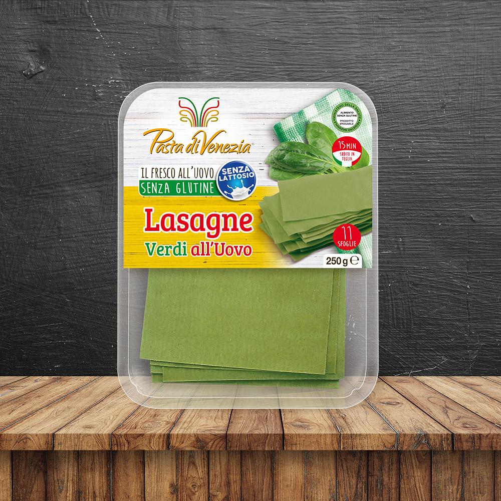 Lasagne verdi Biologiche Senza Glutine e Senza Lattosio - Pasta di Venezia