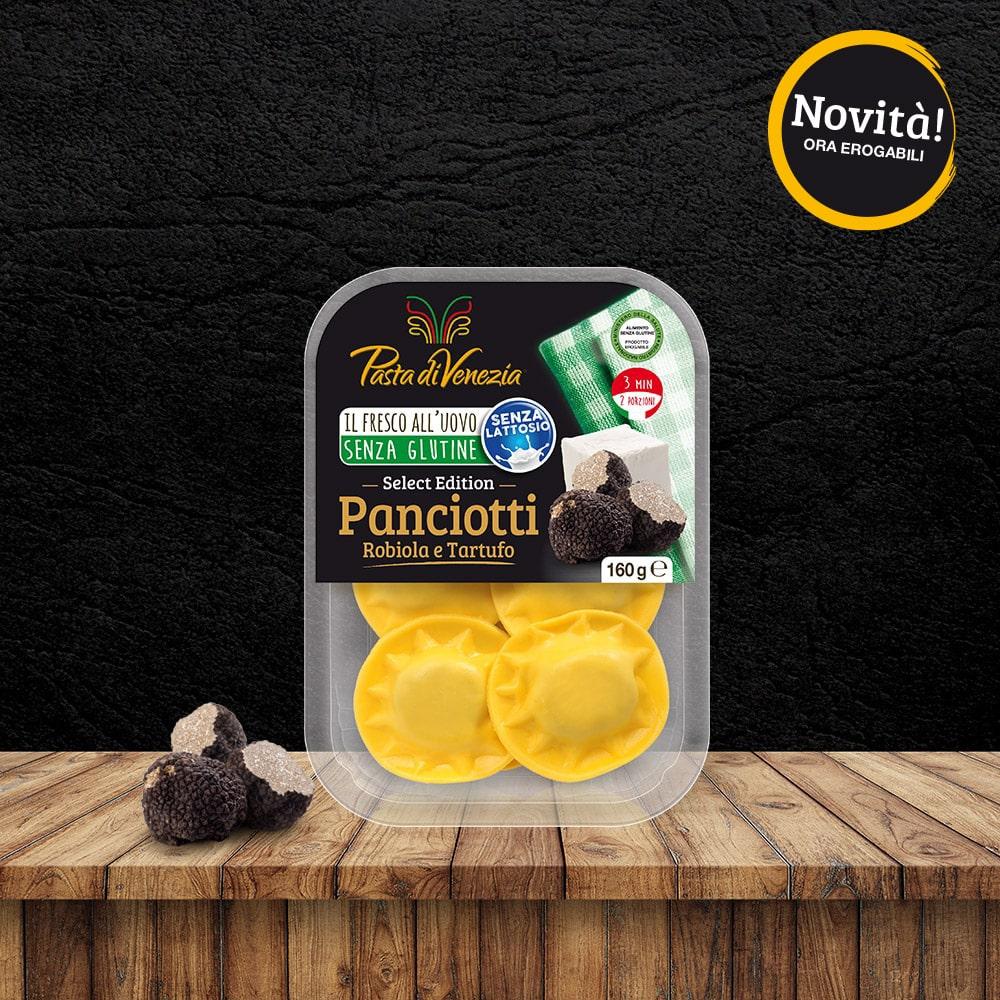 Panciotti con Rabiola e Tartufo Senza Glutine e Senza Lattosio - Pasta di Venezia
