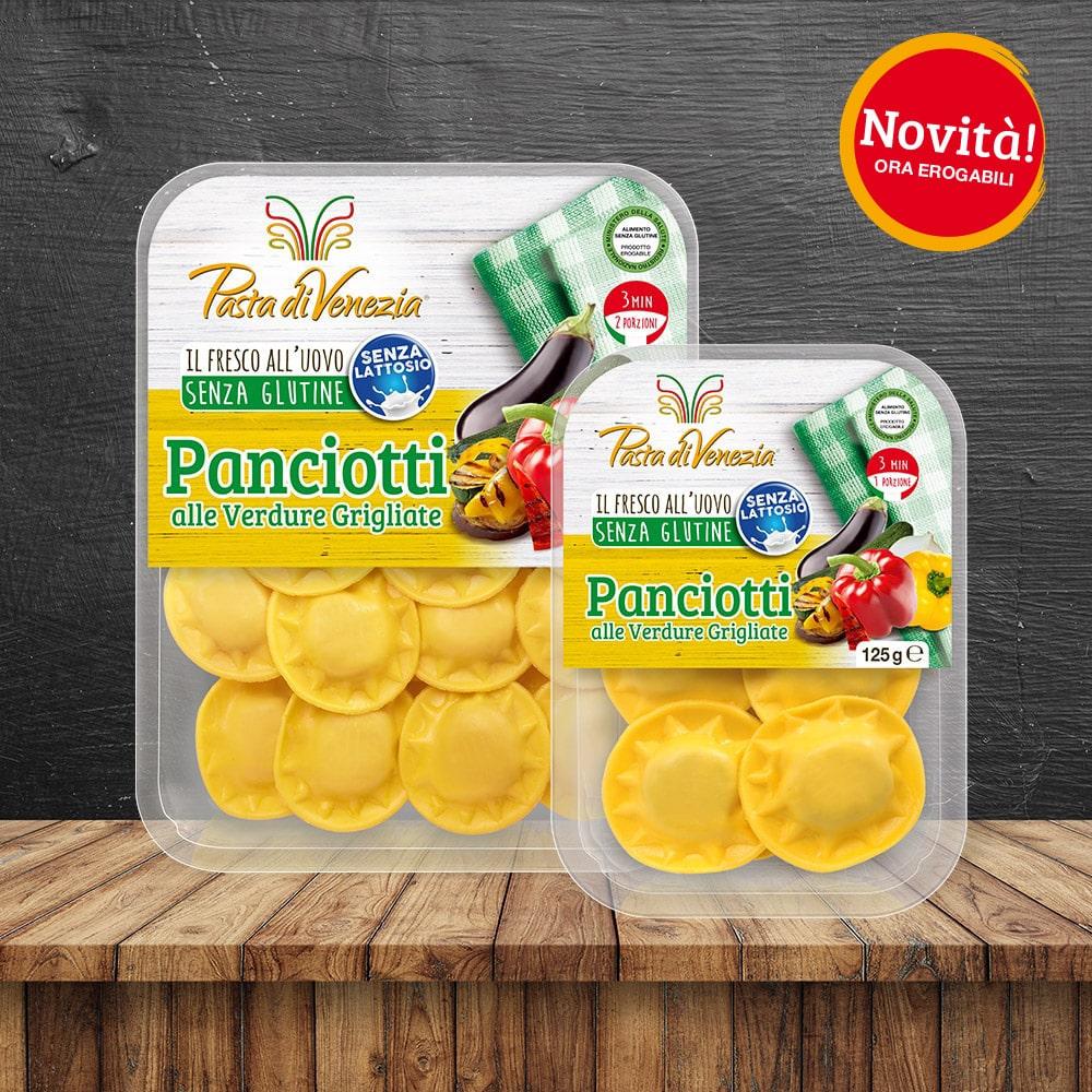 Panciotti alle Verdure Grigliate Senza Glutine e Senza Lattosio - Pasta di Venezia