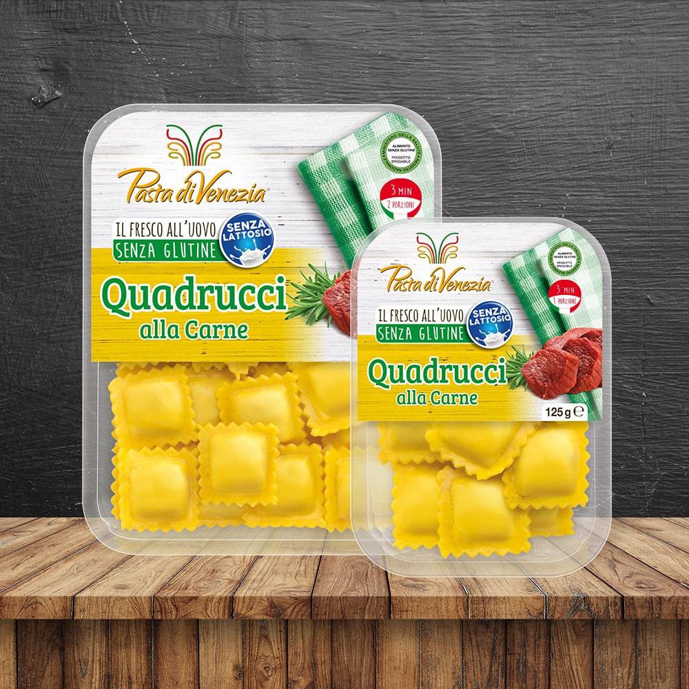 Quadrucci alla Carne Senza Glutine e Senza Lattosio - Pasta di Venezia