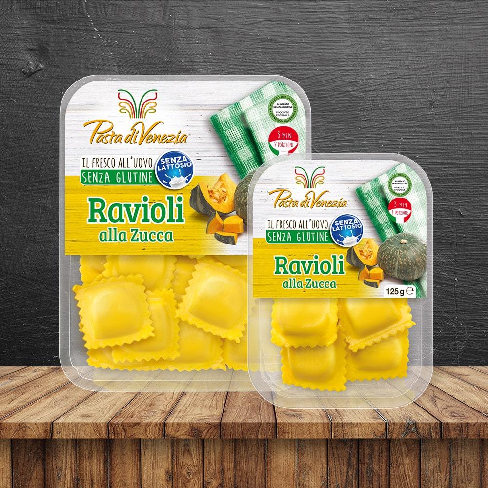 Ravioli alla Zucca Senza Glutine e Senza Lattosio - Pasta di Venezia