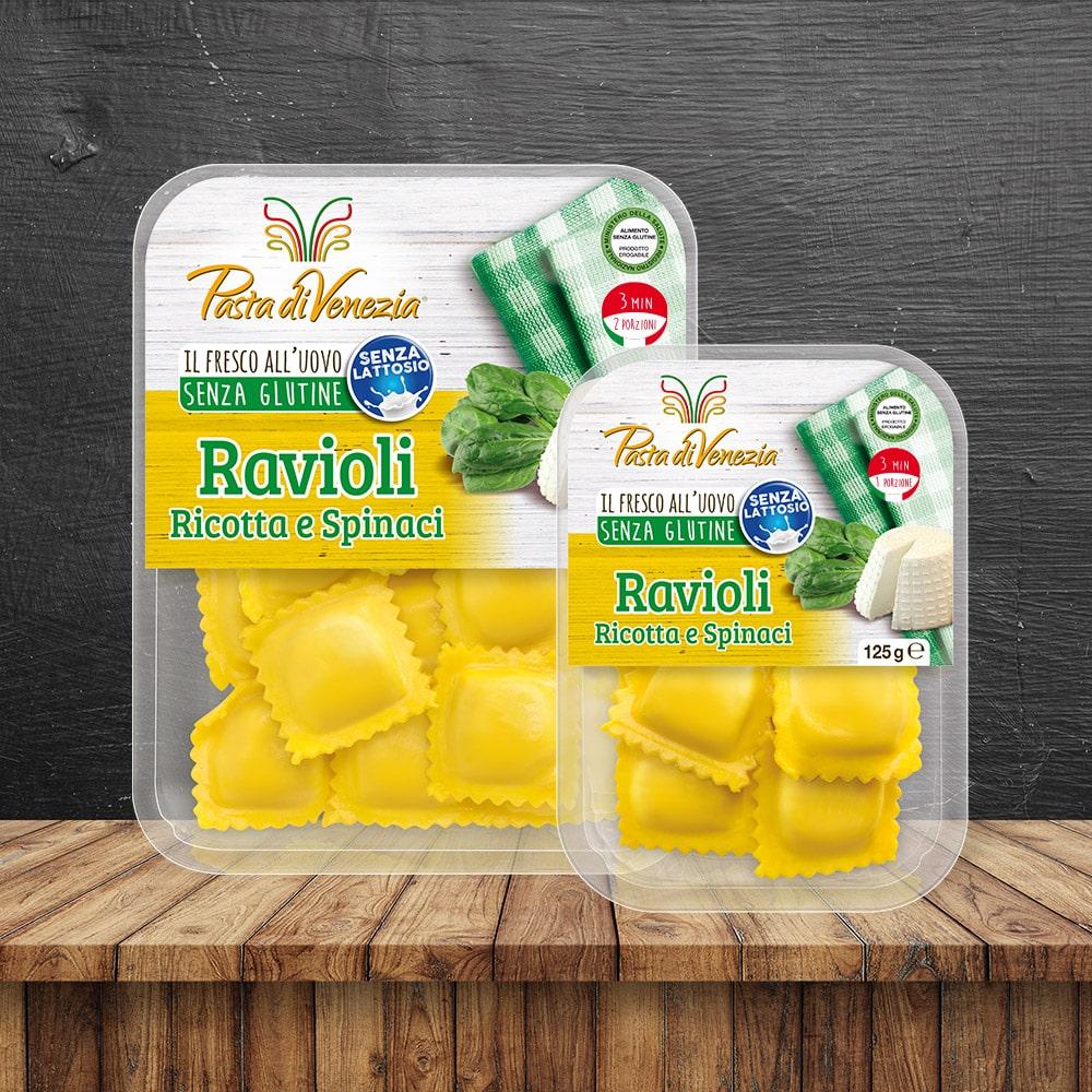 Ravioli Ricotta e Spinaci Senza Glutine e Senza Lattosio - Pasta di Venezia